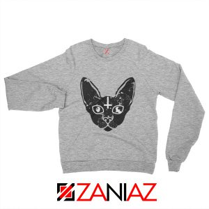Satan Cat Funny Animals Sweatshirt Pet Women Sweatshirt Size S-2XL Sport Grey