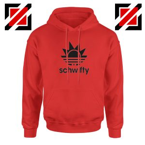 Schwifty Adidas Parody Hoodie Rick And Morty Hoodie Size S-2XL Red