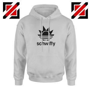 Schwifty Adidas Parody Hoodie Rick And Morty Hoodie Size S-2XL Sport Grey