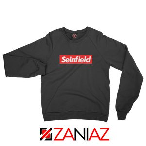 Seinfeld Supreme Parody Sweatshirt American TV Series Sweatshirt Black