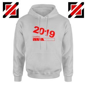 Shop 2019 Hoodie Happy New Year Women Hoodie Size S-2XL Sport Grey