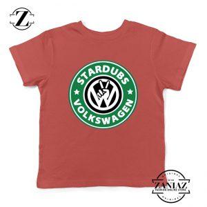 Stardubs Volkswagen Merchandise Kids Tshirt Size S-XL Red