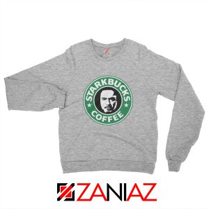 Starkbucks Coffee Sweatshirt Starbucks Parody Sweatshirt Size S-2XL Sport Grey