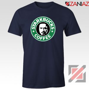 Starkbucks Coffee T-Shirt Starbucks Parody Tee Shirt Size S-3XL Navy Blue