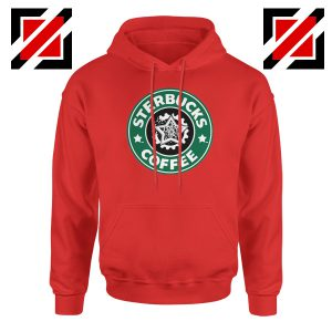 Sterbucks Coffee Hoodie Funny Starbucks Parody Hoodie Size S-2XL Red