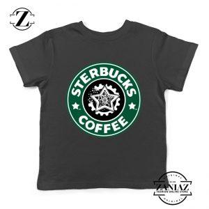 Sterbucks Coffee Starbucks Parody Kids Tshirt Size S-XL Black
