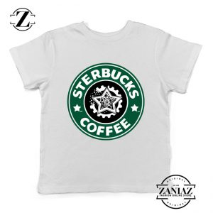 Sterbucks Coffee Starbucks Parody Kids Tshirt Size S-XL White