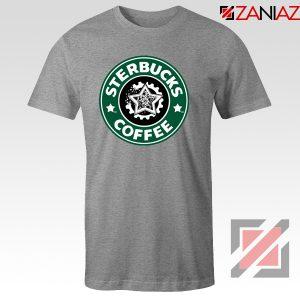 Sterbucks Coffee T-Shirt Funny Starbucks Parody Tshirt Size S-3XL Sport Grey
