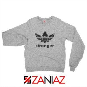 Stranger Things Adidas Logo Sweatshirt American TV Series Sweatshirt Sport Grey
