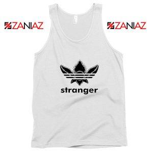 Stranger Things Adidas Logo Tank Top American TV Series Tank Top White