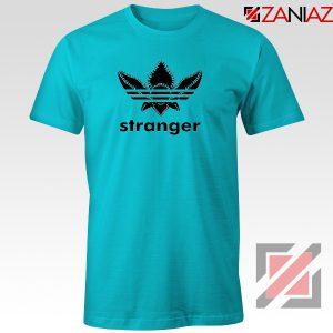 Stranger Things Adidas Logo Tshirt American TV Series Tee Shirts S-3XL Light Blue