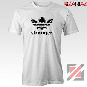 Stranger Things Adidas Logo Tshirt American TV Series Tee Shirts S-3XL White