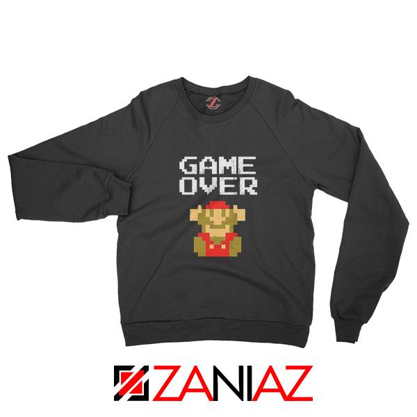 Super Mario Fall Sweatshirt Game Over Mario Best Sweatshirt Size S-2XL Black