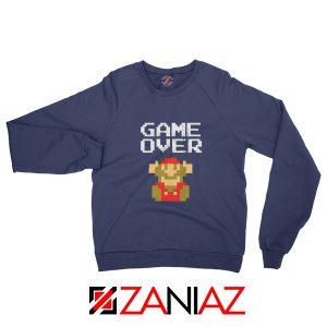 Super Mario Fall Sweatshirt Game Over Mario Best Sweatshirt Size S-2XL Navy Blue
