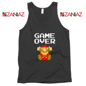 Super Mario Fall Tank Top Game Over Mario Best Tank Top Size S-3XL Black