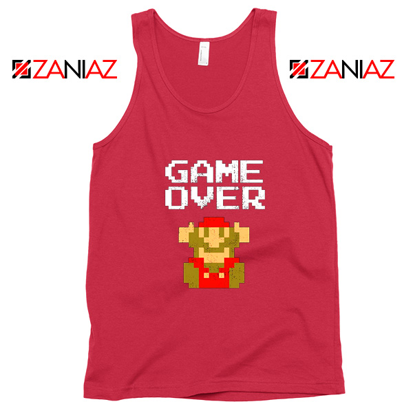 Super Mario Fall Tank Top Game Over Mario Best Tank Top Size S-3XL Red
