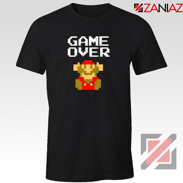 Super Mario Fall Tee Shirt Game Over Mario Best T-shirt Size S-3XL Black