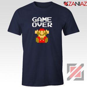 Super Mario Fall Tee Shirt Game Over Mario Best T-shirt Size S-3XL Navy Blue