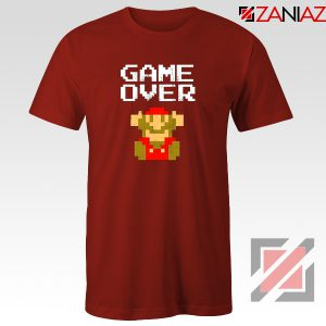 Super Mario Fall Tee Shirt Game Over Mario Best T-shirt Size S-3XL Red