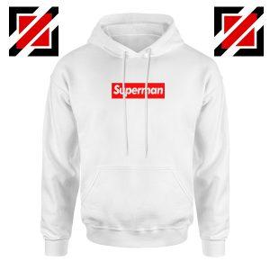Superman Superhero Hoodie Supreme Parody Hoodie Size S-2XL White