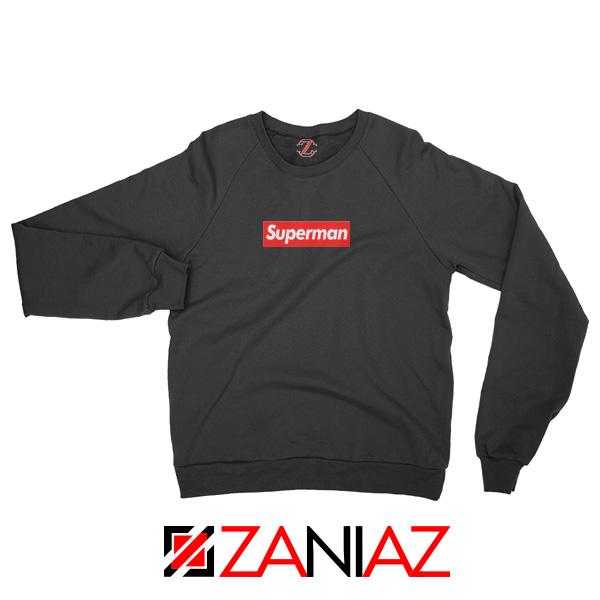 Superman Superhero Sweatshirt Supreme Parody Sweatshirt Size S-2XL Black