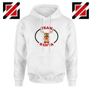 Team Santa Best Hoodie Reindeer Male Hoodie Size S-2XL White