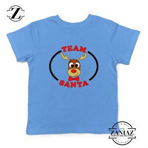 Team Santa Best Kids Shirt Reindeer Male Youth Shirt Blue