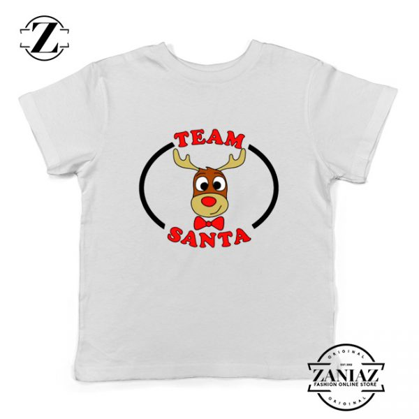 Team Santa Best Kids Shirt Reindeer Male Youth Shirt White