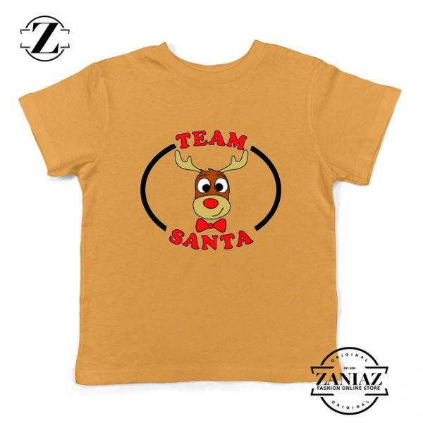 Team Santa Best Kids Shirt Reindeer Male Youth Shirt Yellow
