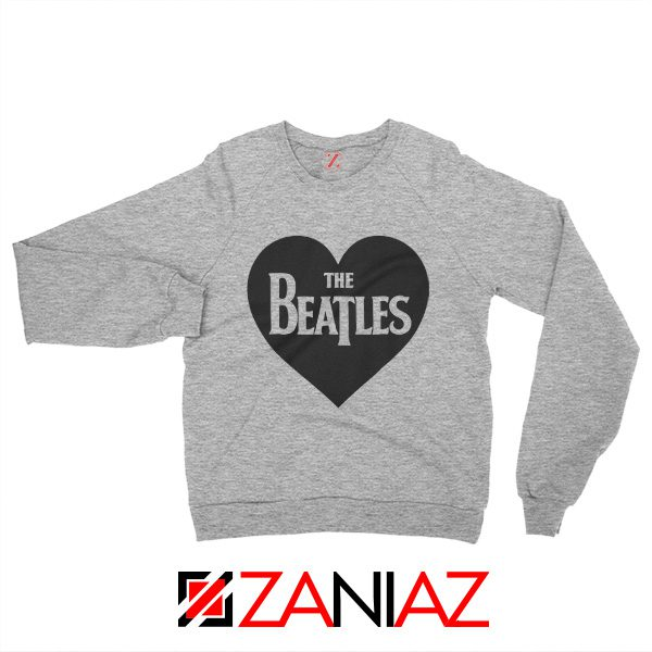 The Beatles Heart Love Women Sweatshirt The Beatles Gift Sweatshirt Sport Grey