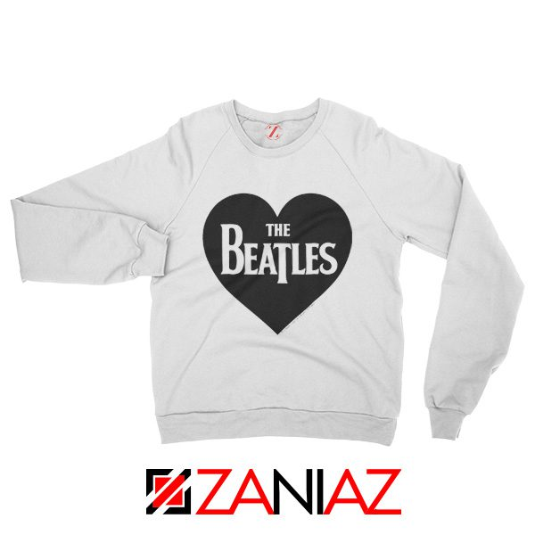 The Beatles Heart Love Women Sweatshirt The Beatles Gift Sweatshirt White