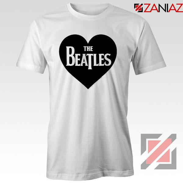 The Beatles Heart Love Women T-Shirt The Beatles Gift T-shirt White
