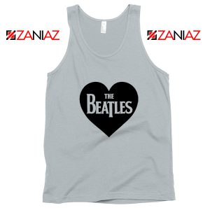 The Beatles Heart Love Women Tank Top The Beatles Gift Tank Top Silver