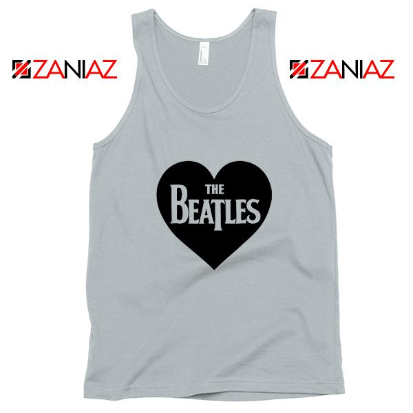 The Beatles Heart Love Women Tank Top The Beatles Gift Tank Top Silver