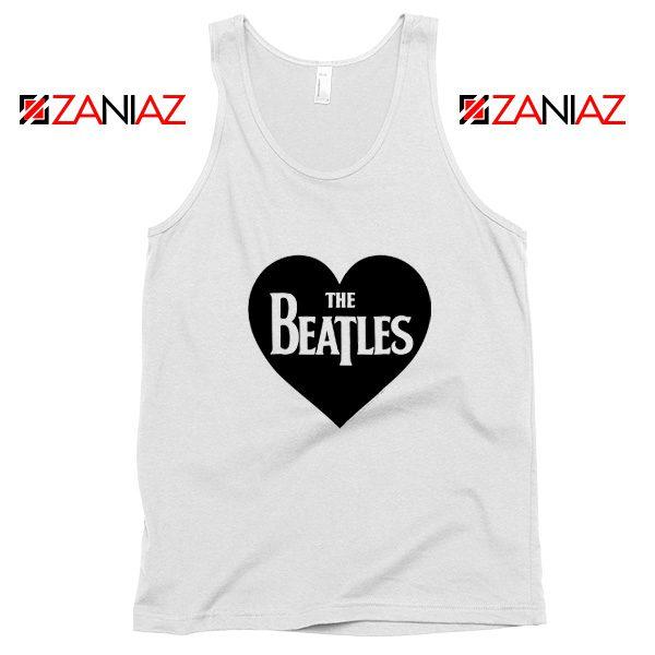 The Beatles Heart Love Women Tank Top The Beatles Gift Tank Top White