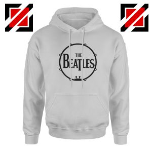 The Beatles Logo Drum Hoodie Gift Band Album Hoodie Size S-2XL Sport Grey