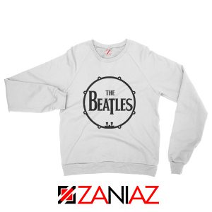 The Beatles Logo Drum Sweatshirt Gift Band Album Sweatshirt White
