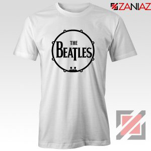 The Beatles Logo Drum T-Shirt Gift Band Album Tee Shirt Size S-3XL White