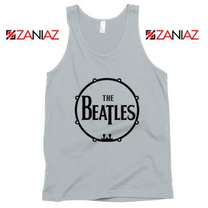 The Beatles Logo Drum Tank Top Band Album Tank Top Size S-3XL Silver