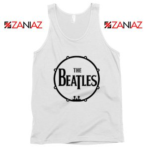 The Beatles Logo Drum Tank Top Band Album Tank Top Size S-3XL White
