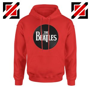 The Beatles Logo Record Style Hoodie Pop Music Hoodie Size S-2XL Red