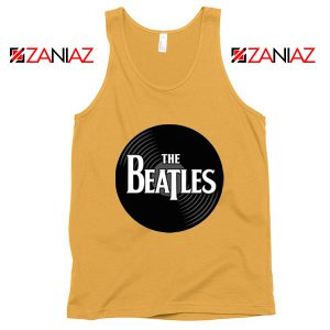 The Beatles Logo Record Style Tank Top Music Tank Top Size S-3XL Sunshine