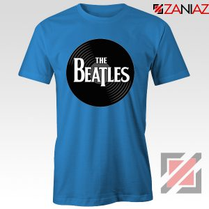 The Beatles Logo Record Style Tee Shirt Pop Music T-shirt Size S-3XL Blue