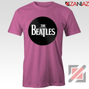 The Beatles Logo Record Style Tee Shirt Pop Music T-shirt Size S-3XL Pink