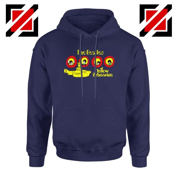 The Beatles Yellow Submarine Hoodie Music Band Hoodie Size S-2XL Navy Blue