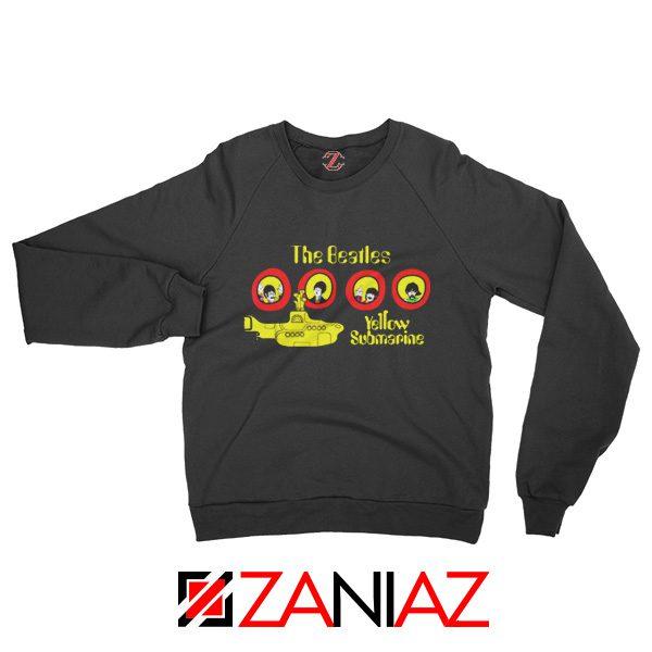 The Beatles Yellow Submarine Sweatshirt Music Band Sweatshirt Black