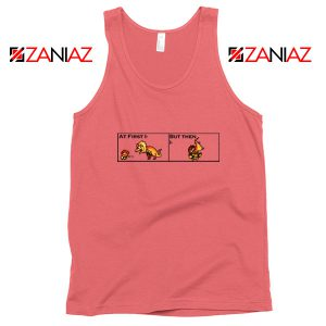 The Great Jaggi Tank Top Funny Monsters Hunter Merchandise Tank Top Coral