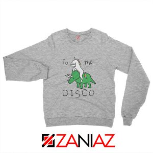 To The Disco Sweatshirt Unicorn Animal Cheap Sweatshirt Size S-2XL Sport Grey
