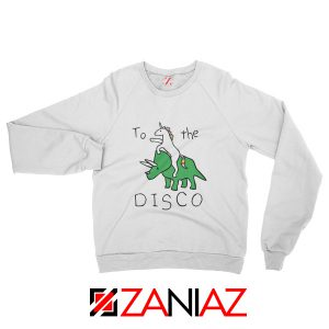 To The Disco Sweatshirt Unicorn Animal Cheap Sweatshirt Size S-2XL White