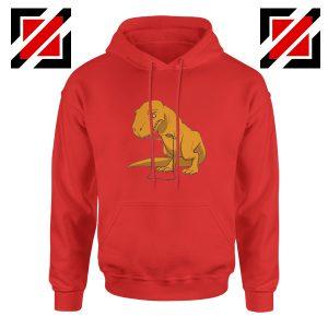 Tyrannosaurus Rex Hoodie Animal Fitness Hoodie Size S-2XL Red